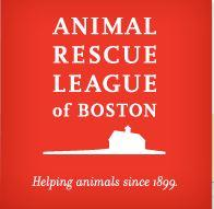 "Animal Rescue League Of Boston  (Boston, Massachusetts) logo with tagline ""Helping animals since 1899"""