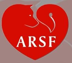 Akita Rescue Society of Florida with heart- and dog-shaped ARSF logo