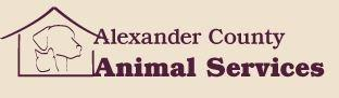 Alexander County Animal Services logo with dog and cat under shelter