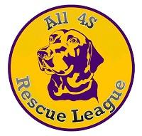 All 4s Rescue League logo with dog