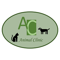 AlterCare Animal Clinic logo with cat and dog in a green circle