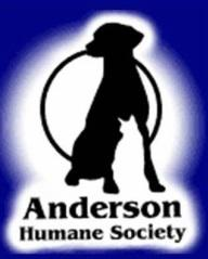 Anderson Humane Society, Inc. logo with dog and cat