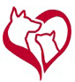 Animal Adoption Center (Lindenwold, New Jersey) logo with red heart, dog and cat