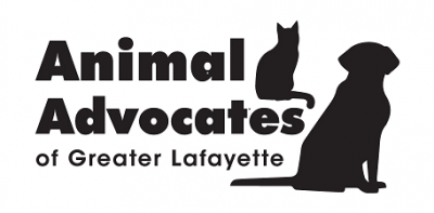 Animal Advocates of Greater Lafayette (West Lafayette, Indiana) logo dog and cat outline