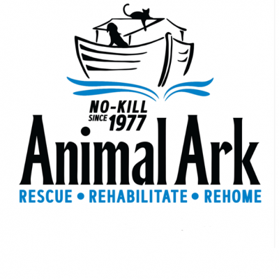 Animal Ark (Hastings, Minnesota) logo dog and cat on ark no kill since 1977
