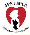 Animal Preservation of East Texas (APET-SPCA) (Mineola, Texas) logo with cat, dog and heart