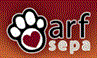 Animal Rescue Foundation of SE PA ARF SEPA (Media, Pennsylvania) logo with paw print