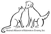 Animal Alliance of Galveston County Inc (La Marque, Texas) logo with dog and cat