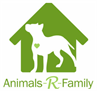 Animals-R-Family, Inc (Stamford, Connecticut) logo of green house with white dog with a green heart inside