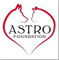ASTRO Foundation (Oakdale, California) logo of dog and cat heart