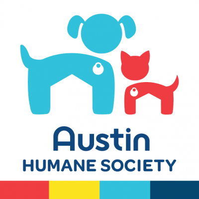 Austin Humane Society (Austin, Texas) logo dog cat with tags