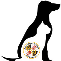 Baltimore County Animal Services (Baldwin, Maryland) logo has nested county logo, cat, and dog