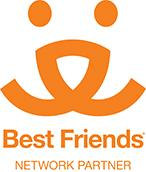 Northwoods Animal Shelter (Iron River, Michigan) logo of Best Friends Network Partner, black dog silhouette