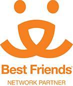Tri-city Animal Shelter (Somerset, Texas) logo is the Best Friends Network Partner logo
