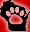 Badger Rescue Animal Transport Services, Inc. (Germantown, Wisconsin) logo with pawprint in Wisconsin state and BRATS acronym