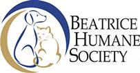 Beatrice Humane Society (Beatrice, Nebraska) logo with blue and gold dog and cat in circle