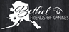 Bethel Friends of Canines (Bethel, Alaska) logo with state of Alaska silhouette, pawprint, side profile of dog face