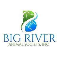 Big River Animal Society Inc. (Olive Branch, Mississippi) logo with cat and dog inside squiggles