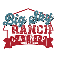 CATNIP Foundation at Big Sky Ranch (Folsom, Louisiana) blue and red logo with an outline of a barn