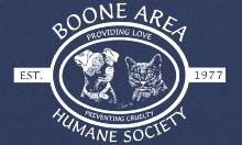 Boone Area Humane Society (Boone, Iowa) logo with dog and cat