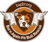 Born Again Pit Bull Rescue (Sherwood, Oregon) logo of pit bull with angel wings