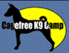 CageFree K-9 Rescue Foundation (Los Angeles, California) logo of dog and moon