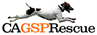 California German Shorthaired Pointer Rescue (Bonsall, California) logo of running pointer dog