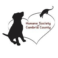 Humane Society of Cambria County (Johnstown, Pennsylvania) logo of heart, dog and cat