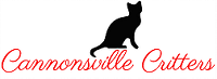 Cannonsville Critters (Stanton, Michigan) logo with a black cat