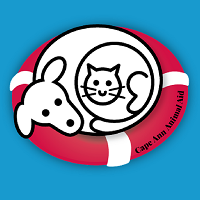 Cape Ann Animal Aid (Gloucester, Massachusetts) with dog and cat in a life preserver ring