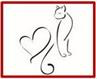 Caring Friends Cat Rescue (NKLA) (Tustin, California) logo of cat and heart silhouette