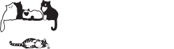 Cat Care Society (Lakewood, Colorado) logo with black & white cats