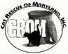 Cat Rescue of Maryland (Baltimore, Maryland) logo has a black cat and CROM acronym inside a circle