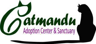 """Catmandu (Carson City, Nevada) logo has """"C"""" formed by a cat and a black cat with its tail under the name"""