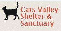 Cats Valley Shelter and Sanctuary (Redwood City, California) logo of black cat next to orange wording