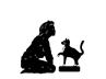 Cats Anonymous(Green Bay, Wisconsin) logo with black cat and woman