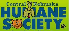 Central Nebraska Humane Society (Grand Island, Nebraska) logo with dog and cat