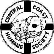 Central Coast Humane Society (Newport, Oregon) logo with a life preserver and dog and cat