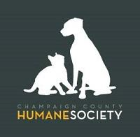 Champaign County Humane Society (Urbana, Illinois) logo with dog & cat silhouette