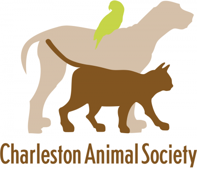 Charleston Animal Society (N Charleston, South Carolina) logo with cat, dog & bird
