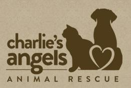 Charlie's Angels Animal Rescue (Fletcher, North Carolina) logo with cat, dog and heart