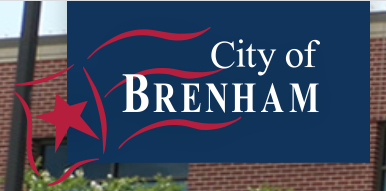 City of Brenham Animal Services (Brenham, Texas) logo with city name and red flag with star
