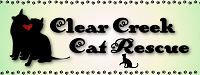 Clear Creek Cat Rescue (Wasilla, Alaska) logo with cat & dog