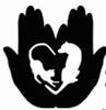 Colorado Animal Rescue (Glenwood Springs, Colorado) black & white logo with dog & cat in palms of two hands