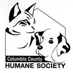 Columbia County Humane Society (Portage, Wisconsin) logo with cat & dog