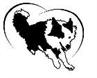 Come Bye Border Collie (Highland, Illinois) logo of border collie cartoon