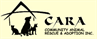 Community Animal Rescue & Adoption (CARA) (Jackson, Mississippi) logo with cat and dog silhouettes