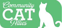 Community Cat Allies (Marina, California) logo with white cat on green background