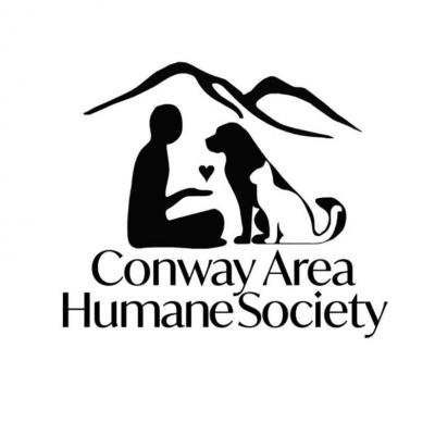 Conway Area Humane Society (Conway, New Hampshire) logo human sitting with dog and cat