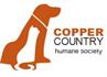 Copper Country Humane Society (Houghton, Michigan) logo with cat & dog